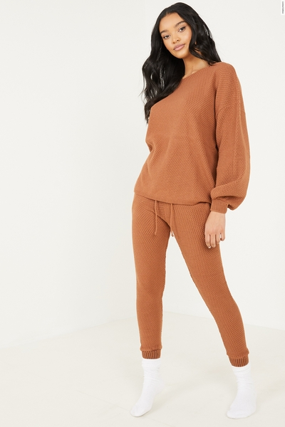 Rust Knitted Lounge set